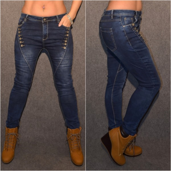 Coole MULTY BUTTON stretch JEANS