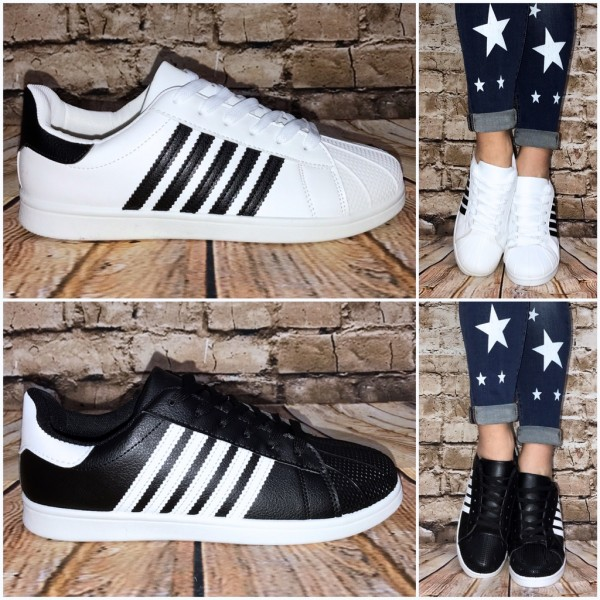 ANGEBOT Coole NEW 5 STRIPE Lowcut Sportschuhe / Sneakers