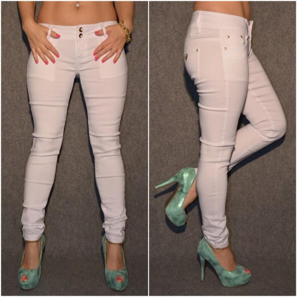 Fashion Stretch Hose WEISS