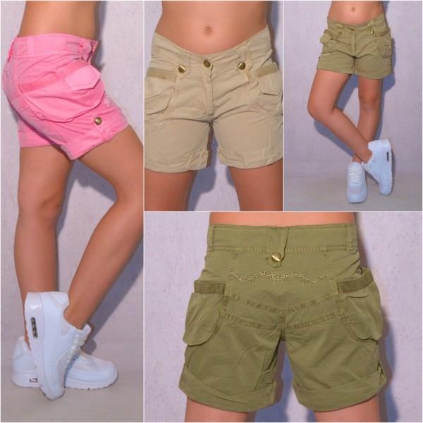 SWEET GIRLS Kinder Mädchen Fashion Bermuda Shorts kurze Hose mit Stickerei