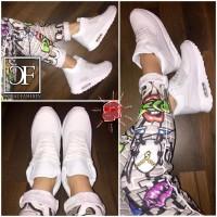 Coole UNISEX Highcut AIR Sportschuhe / Sneakers WEISS