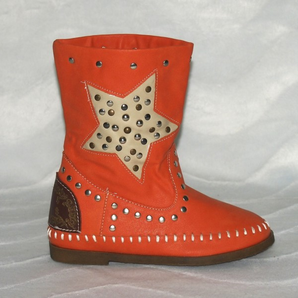 Kinder Herbststiefel STERN Orange