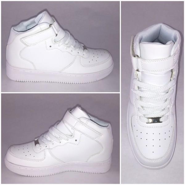 NEW Style Highcut KLETT Sportschuhe / Sneakers WEISS