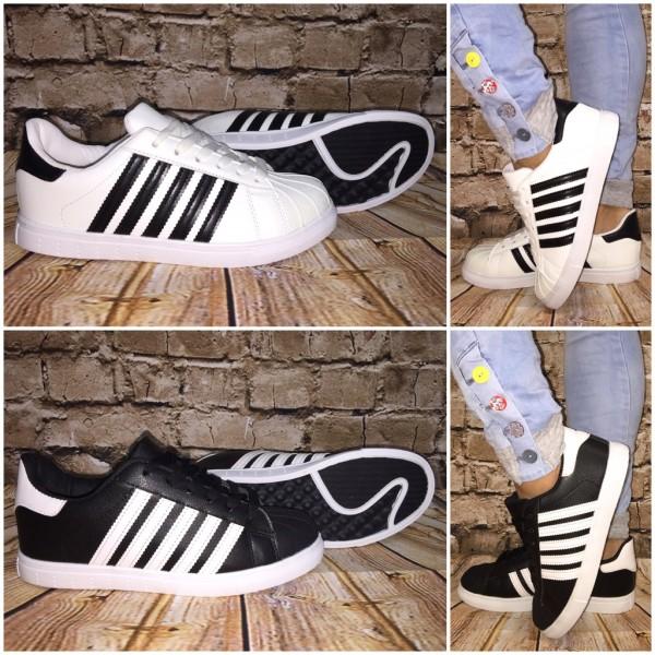 ANGEBOT!! - Coole 5 STRIPE Lowcut Sportschuhe / Sneakers