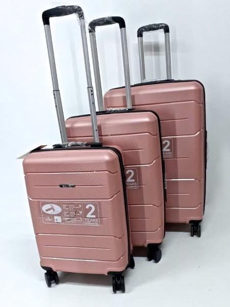 Hartschalen Reisekoffer Koffer Hardcase Trolley mit Zahlenschloss Kofferset 4 Rollen GOLD
