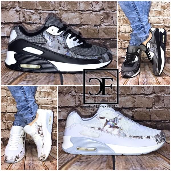 "Bequeme ""Glitzer BLATT"" LUFT Sportschuhe / Sneakers"