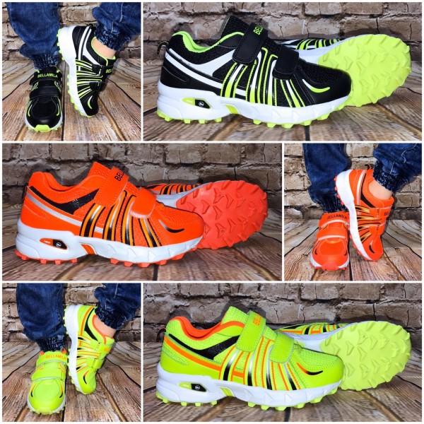 KINDER New Stripe Klett Sportschuhe / Sneakers in 3 Farben