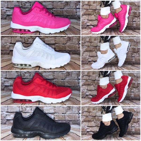 Wow XXL LUFT Sportschuhe / Sneakers mit weißer Sohle