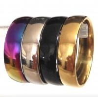 Klassischer Edelstahl Ring Gold, Silber, Schwarz & Regenbogen Damen Herren Kinder Stainless Steel