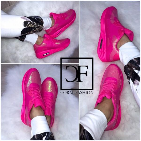"""Bequeme """"EINHORN Glitzer"""" LUFT Sportschuhe / Sneakers PINK"""