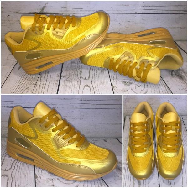 Leichte HERREN LUFT Sneakers / Sportschuhe GOLD