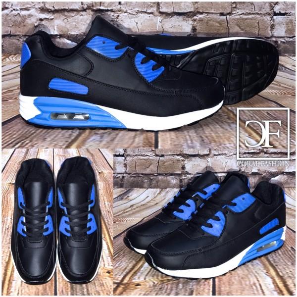 Bequeme HERREN / Unisex LUFT Sportschuhe / Sneakers BLAU / SCHWARZ