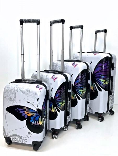 Schmetterling Hartschalen Reisekoffer Koffer Hardcase Trolley mit Zahlenschloss Kofferset 4 Rollen