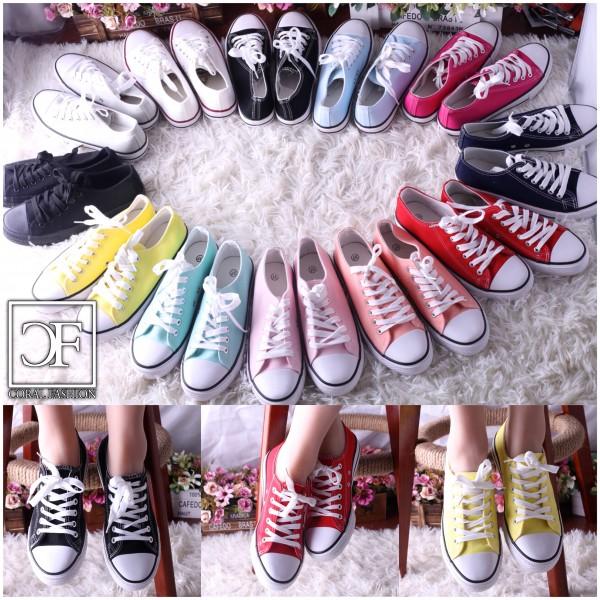 *ANGEBOT Fashion DENIM Lowcut Sportschuhe / Sneakers mit weißer Sohle