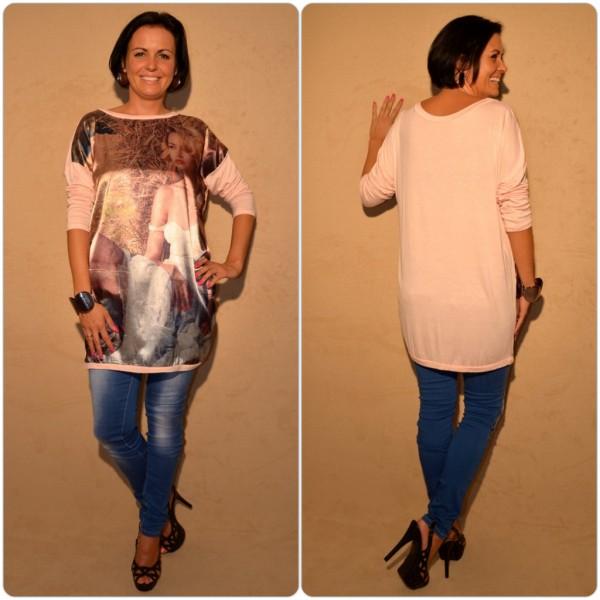 Stylische Tunika Modell: LADY in Stroh ROSA