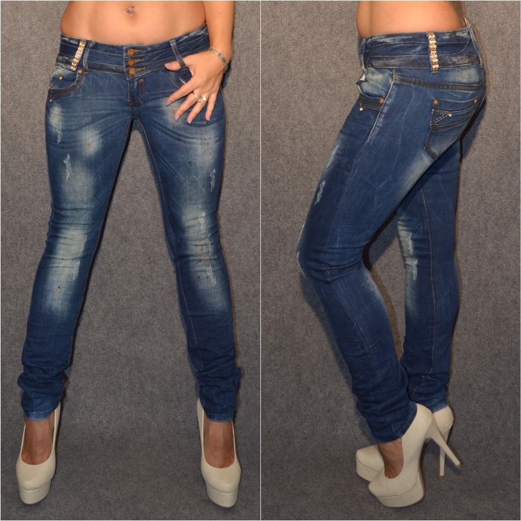 Sexy stretch Jeans in USED   DIRTY Look   Jeans   Damenmode   Mode   Coral  Fashion 861423fe8f