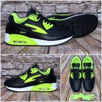 Unisex NEW BELLA Style AIR Sportschuhe / Sneakers SCHWARZ / Grün