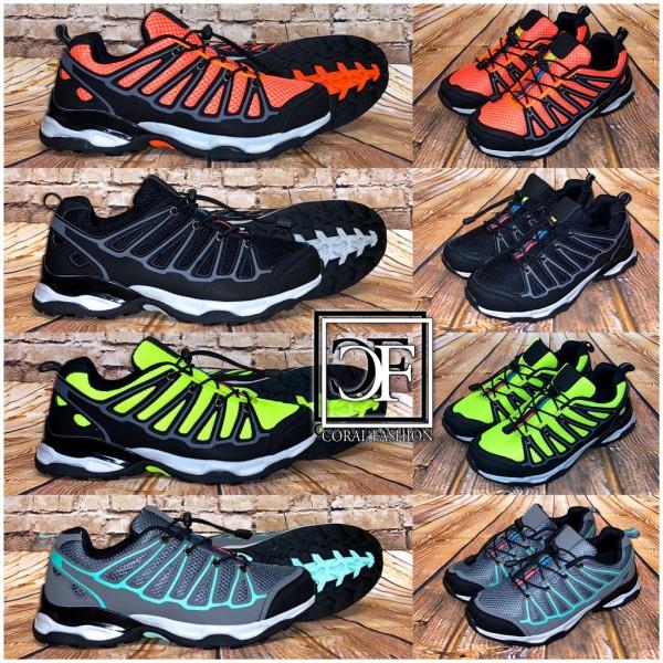 Herren TREKKING Look Stripe Sportschuhe Sneakers in 4 Farben + Gratis Schnürsenkel