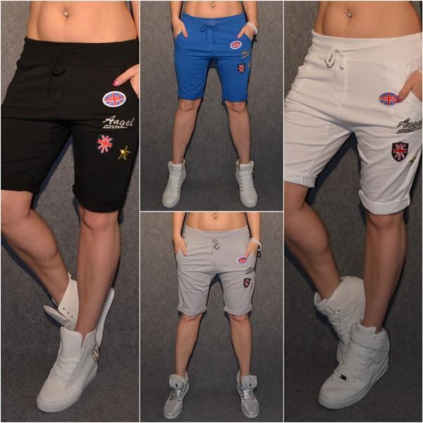 Italy Jersey Shorts / BERMUDA mit Applikationen