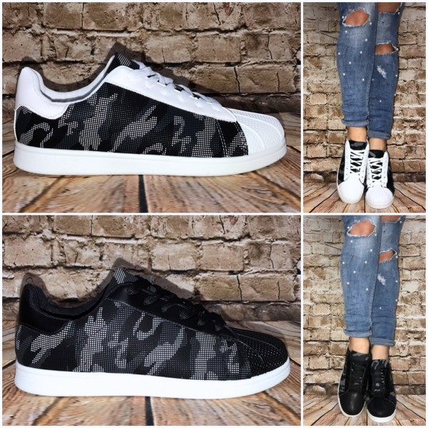 ANGEBOT!! - Coole CAMOUFLAGE Look Lowcut Sportschuhe / Sneakers