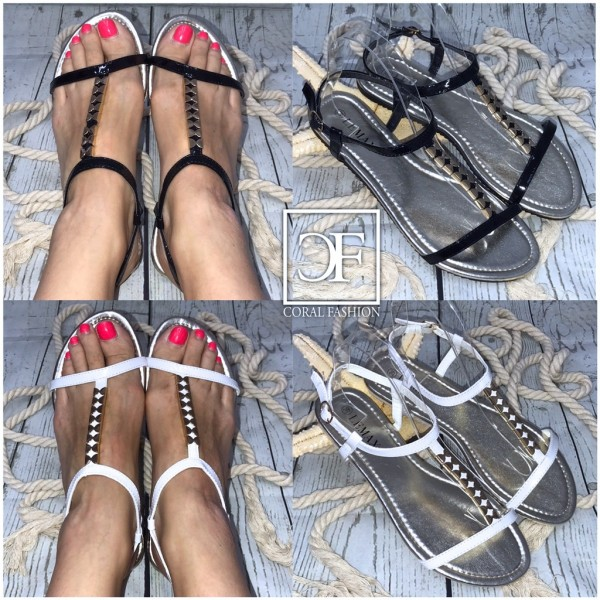 Stylische Riemchen Sandalen / Sandaletten mit goldenen Schleifchen