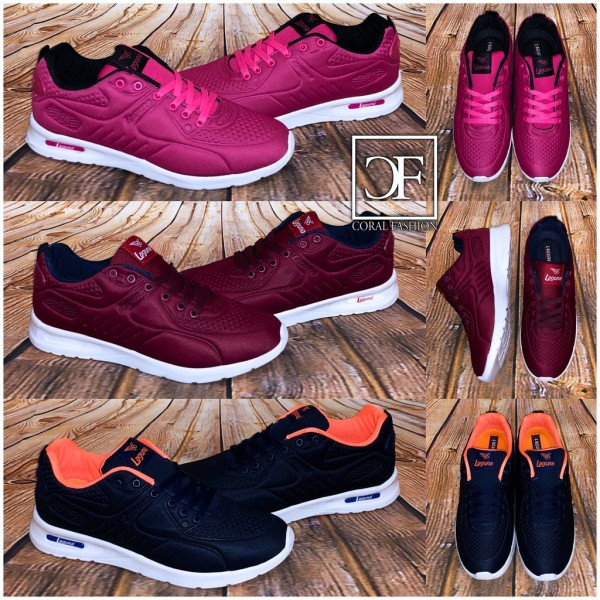 Damen Color Sportschuhe Sneakers in SILK Look 3 Farben