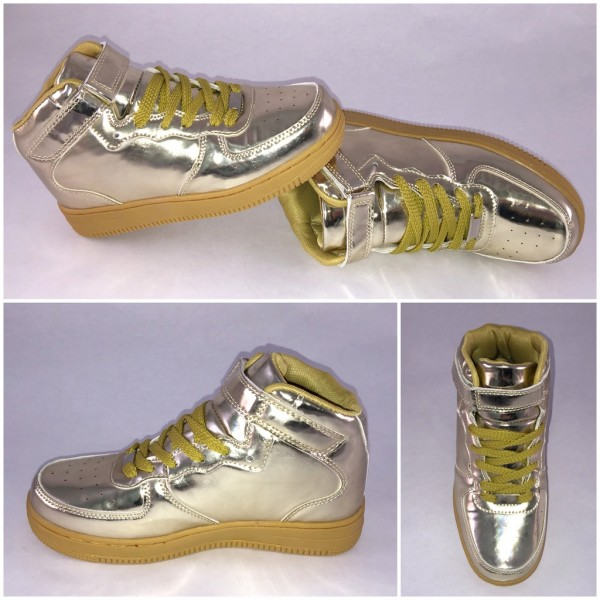 NEW Style Highcut KLETT Sportschuhe / Sneakers GOLD