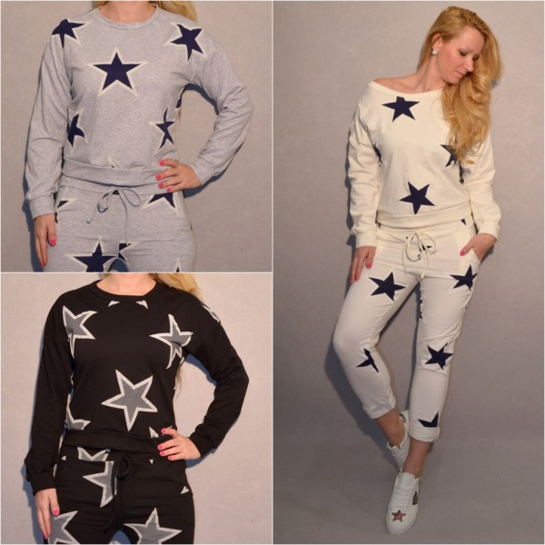 ITALY All Over STARS / STERNE Sweatshirt / Sweat Pullover