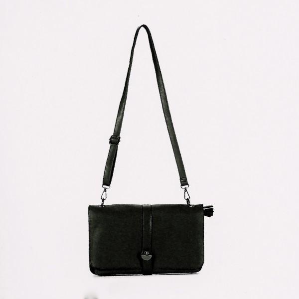 FLORA & CO Paris Schulter/Handtasche SCHWARZ (9971)