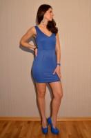 *AKTION* Sexy figurbetontes Mini Kleid BLAU