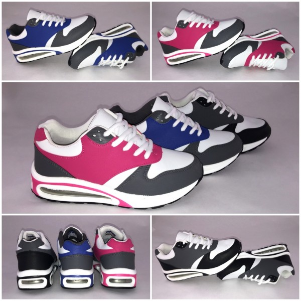 """New XL """"double"""" LUFT Sportschuhe / Sneakers """"3 Farbig"""""""