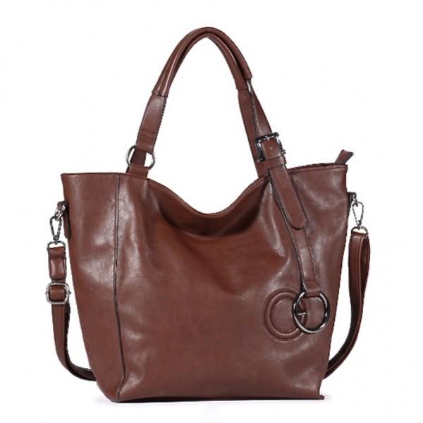 FLORA & CO Paris Handtasche SCHOKO (7037)