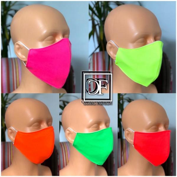 Mund und Nasenmaske in coolen NEON Farben Unisex