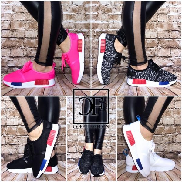 Super leichte & bequeme 2 STRIPE (Rot/Blau) Sportschuhe / Sneakers