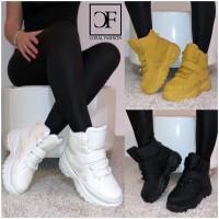 PLATEAU Damen Fashion High Cut Sportschuhe / Sneakers mit Klettverschluss in 3 Farben