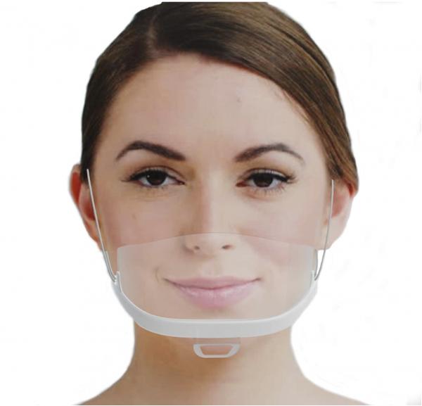 MINI Gesichtsschild Premium Gesichtsvisier aus Kunststoff Schutzvisier in Weiß Universal Gesichtssch