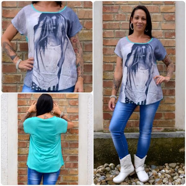 Stylisches Shirt Modell: LADY Haare GRÜN