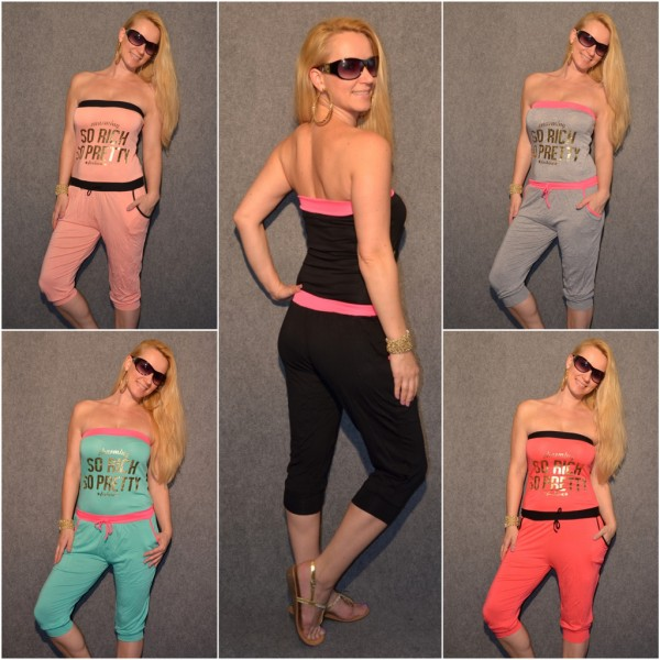 "Sommer Capri Overall ""SO RICH SO PRETTY"""