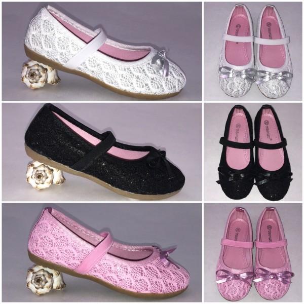 Süße glitzer KINDER Ballerinas (Größen 25 - 30)