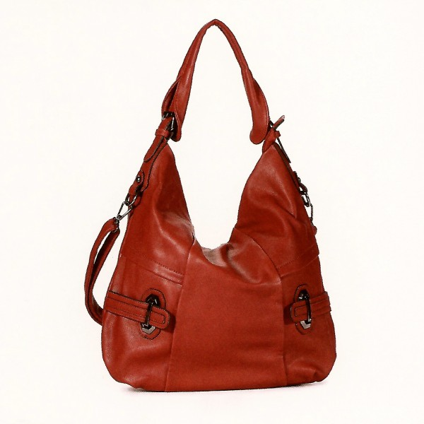 FLORA & CO Paris Handtasche ZIEGEL (9915)