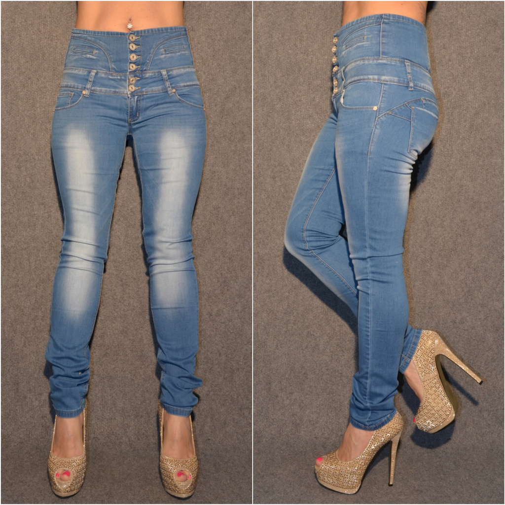 Sexy HIGH WAIST stretch Jeans BLAU   Jeans   Damenmode   Mode   Coral  Fashion dcb89b5f18