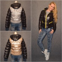 Sportliche Übergangs /  Winterjacke mit Kapuze BLACK MOOD print