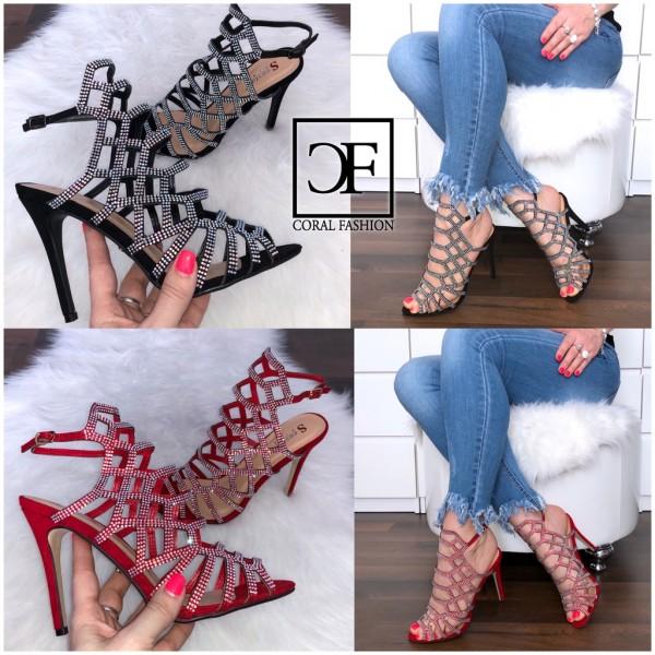 Italy Fashion High Heels / Sandalen mit STRASS besetzt