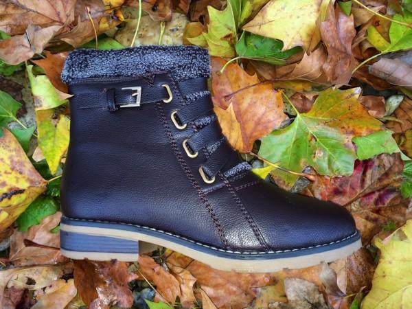 AKTION!!! - Herbst / Winter Kunsleder BOOTS mit Zipp KAFFEE