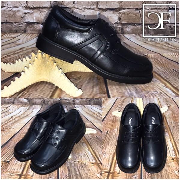 Elegante / festliche KINDER Schuhe mit 3 fach Schnürung SCHWARZ Mod.2
