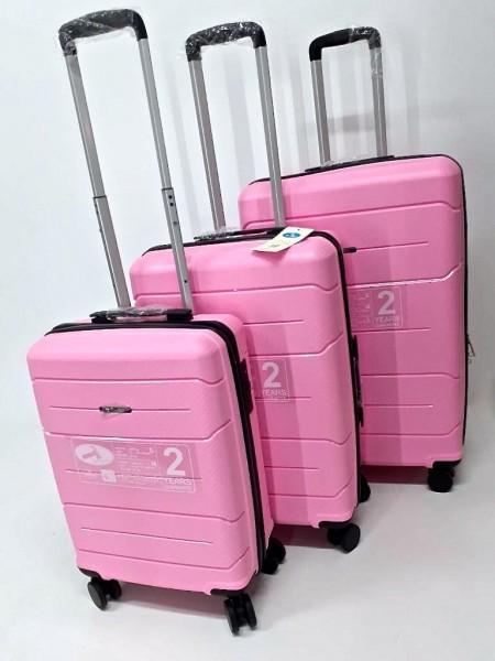 Hartschalen Reisekoffer Koffer Hardcase Trolley mit Zahlenschloss Kofferset 4 Rollen PINK