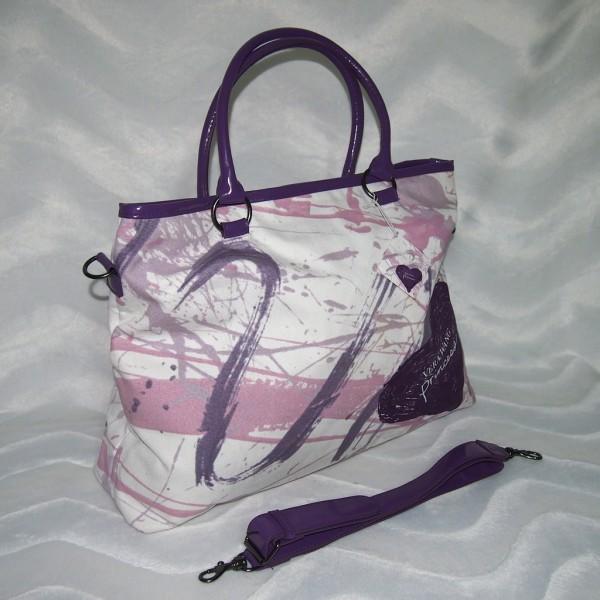 VERA WANG Princess Handtasche / Shopper Lila/Weiß/Rosa