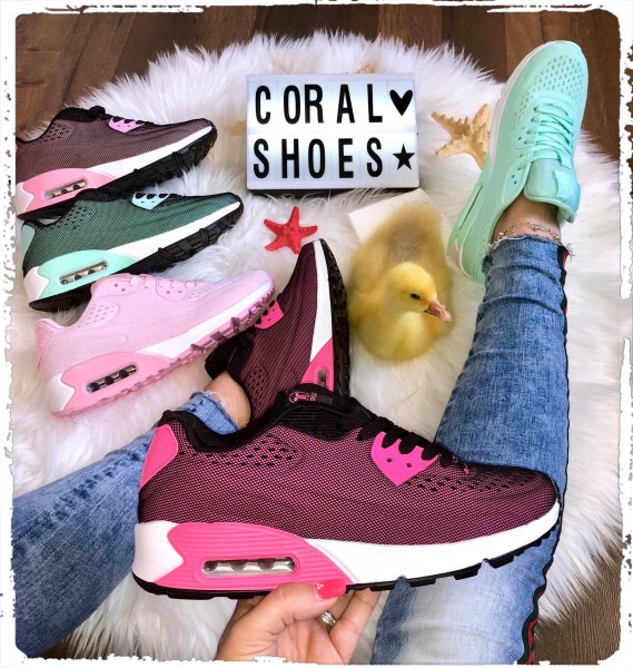 Damen NET print LUFT Sportschuhe / Sneakers in 5 Farben