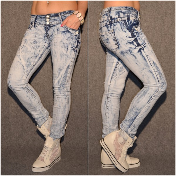 BLEACHED Look stretch Jeans