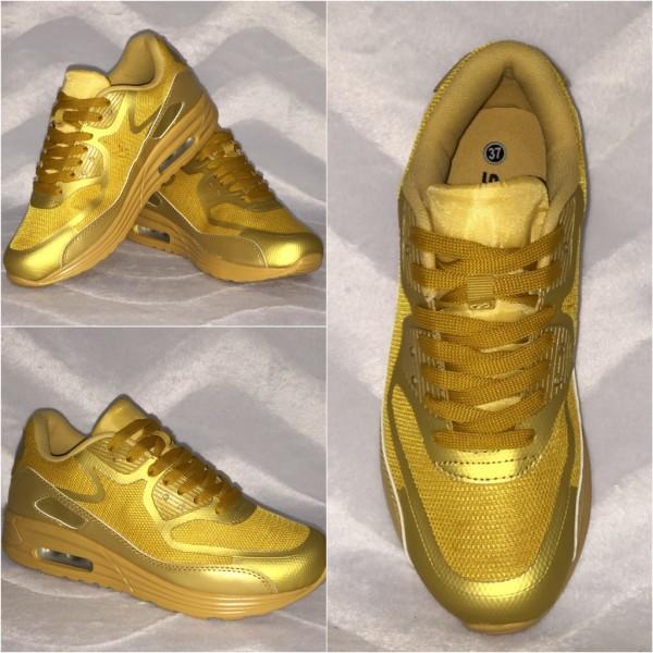 Leichte LUFT Sneakers / Sportschuhe GOLD